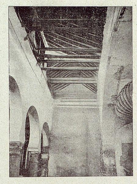 102_TRA-1918-098-Iglesia de San Sebastián, muro y cubierta de la nave de la Epístola