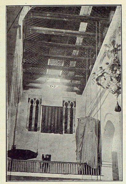 113_TRA-1922-179-Iglesia de Santiago del Arrabal, artesonado y ajimeces