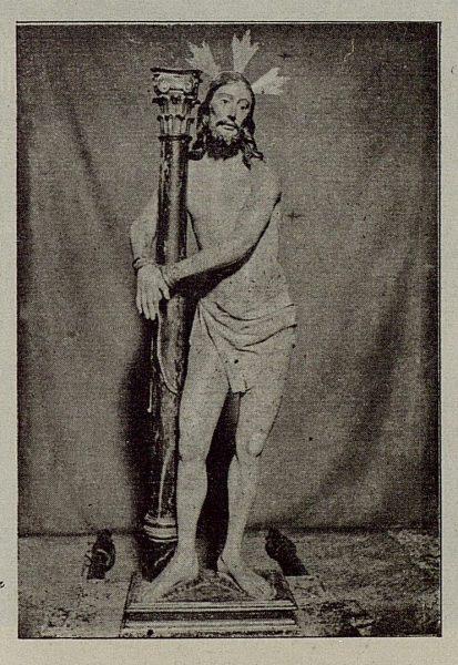 120_TRA-1921-174-Cristo de la Columna en la Iglesia de los Santos Justo y Pastor