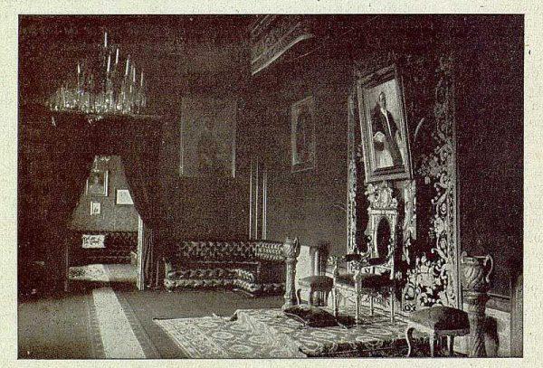 136_TRA-1921-173-Palacio arzobispal, Salón del Trono