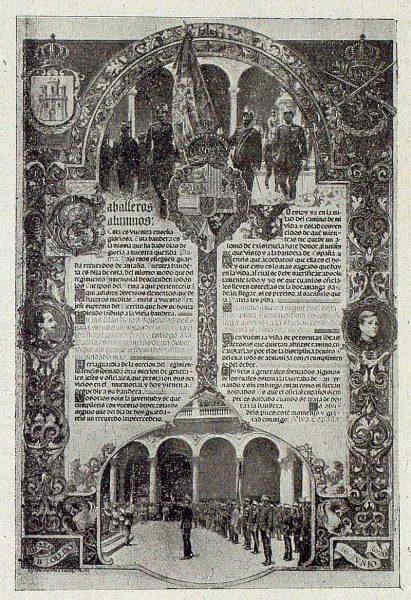 139_TRA-1921-168-Escuela de Artes y Oficios, pergamino para el Alcázar, obra de José Ordoñez Valdés