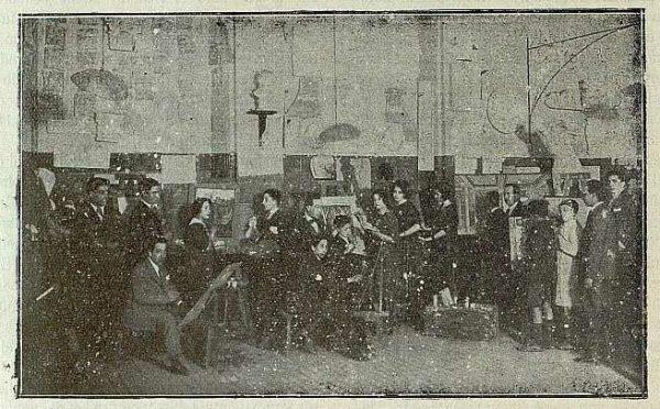 140_TRA-1921-169-Escuela de Artes y Oficios, clase de pintura-01-Foto Rodríguez