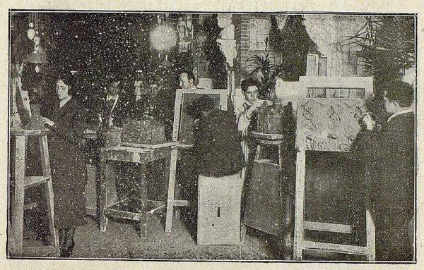 141_TRA-1921-169-Escuela de Artes y Oficios, clase de pintura-02-Foto Rodríguez