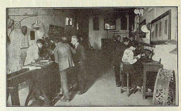 144_TRA-1921-170-Escuela de Artes y Oficios, taller de metalistería-Foto Rodríguez