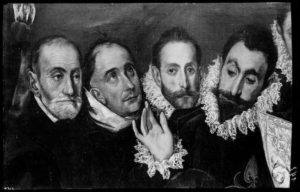 147 - Toledo - Entierro del Conde de Orgaz. San Agustín, San Esteban y el Conde de Orgaz (El Greco)