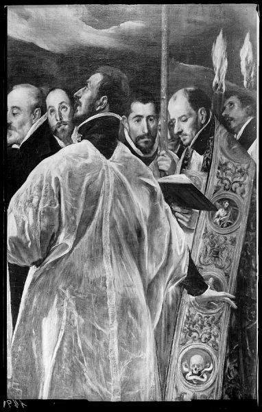 149 - Toledo - Entierro del Conde de Orgaz. Párroco y sacristán de la iglesia de Santo Tomé (El Greco)