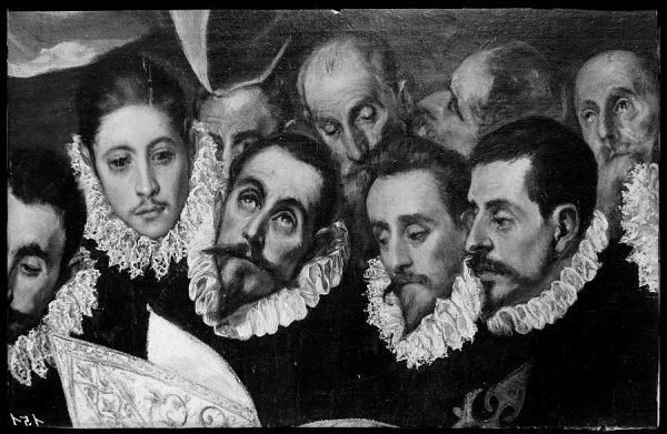 151 - Toledo - Entierro del Conde de Orgaz. A la izquierda Luis Tristán, discípulo del Greco y caballeros