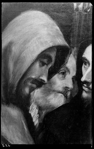 152 - Toledo - Iglesia de Santo Tomé, Entierro del Conde de Orgaz. Fraile agustino (El Greco)
