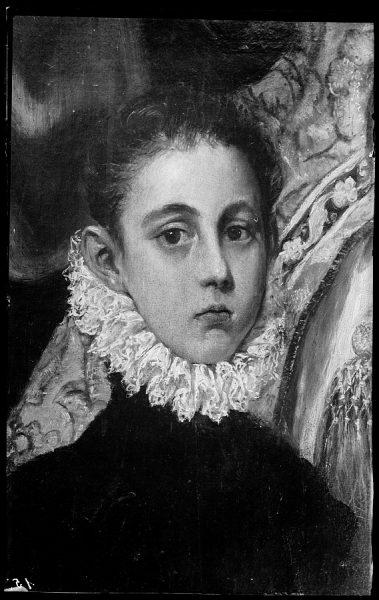 153 - Toledo - Iglesia de Santo Tomé, Entierro del Conde de Orgaz. Jorge Manuel, hijo del Greco