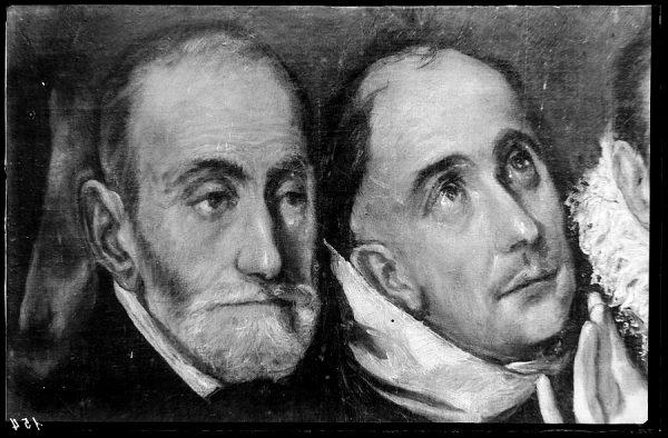 154 - Toledo - Entierro del Conde de Orgaz. Caballeros asistentes al entierro (El Greco)