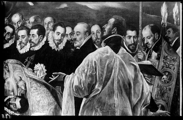 158 - Toledo - Detalle del lienzo Entierro del Conde de Orgaz (El Greco)