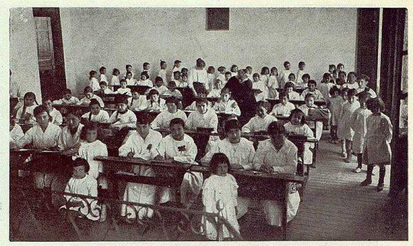 160_TRA-1923-194-Escuela Normal de Maestras, una de las clases de la escuela práctica-Foto Rodríguez
