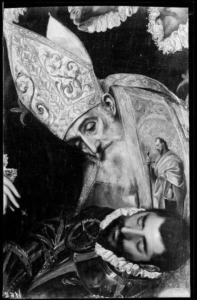 162 - Toledo - Entierro del Conde de Orgaz. San Agustín y don Gonzalo (El Greco)