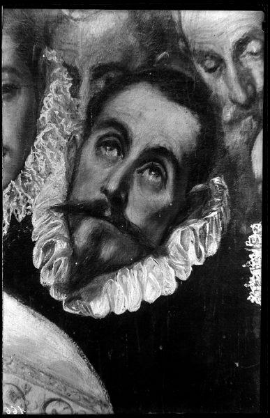 166 - Toledo - Entierro del Conde de Orgaz. Caballero de la época ( El Greco)