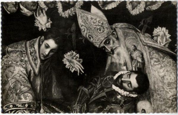 172 - Toledo - Entierro del Conde de Orgaz. San Agustín, San Esteban y el Conde de Orgaz (El Greco)