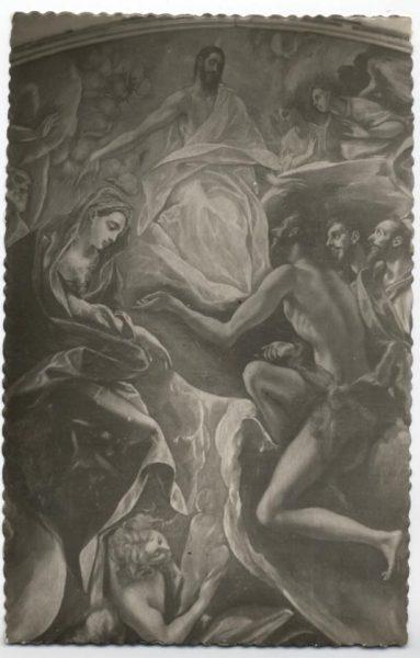 175 - Toledo - Entierro del Conde de Orgaz. Jesús, la Virgen y San Juan Bautista (El Greco)