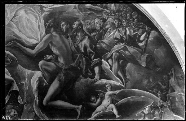 176 - Toledo - Entierro del Conde de Orgaz. Parte superior en la que se representa a Felipe II (El Greco)