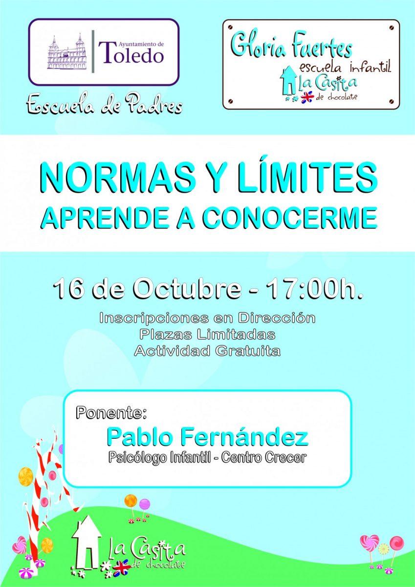 http://www.toledo.es/wp-content/uploads/2019/10/2019-10-escuela-padres-aprende-a-conocerme-gloria-849x1200.jpg. ESCUELA DE FAMILIAS. APRENDE A CONOCERME. NORMAS Y LÍMITES.