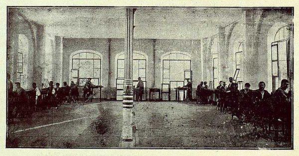 221_TRA-1922-181-Fábrica Nacional de Artillería, salón de damasquinado
