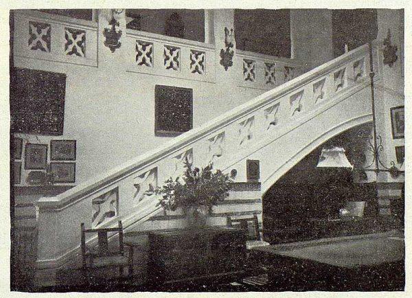234_TRA-1922-188-El Sotillo, escalera del zaguán-Foto Rodríguez