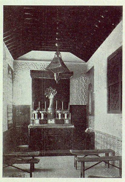 237_TRA-1922-188-El Sotillo, interior de la capilla-Foto Rodríguez
