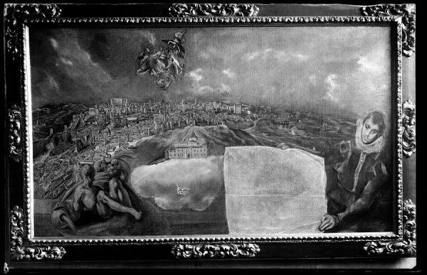 24 - 089 - Toledo - Museo del Greco. Vista y plano de Toledo (Greco)