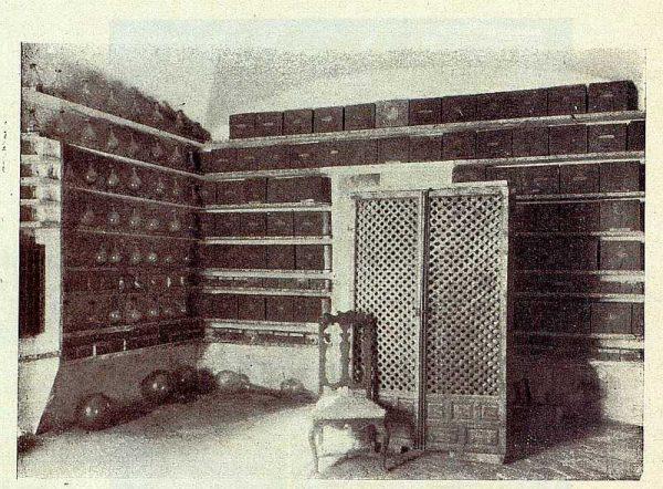 278_TRA-1928-260-Hospital Tavera, botica, cajones-Foto Rodríguez
