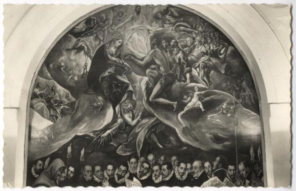 28 - 156 - Toledo - Entierro del Conde de Orgaz. Parte superior (El Greco)