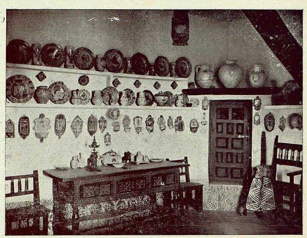 306_TRA-1921-178-Palacio de Benacazón, un rincón de la cocina-Foto Rodríguez