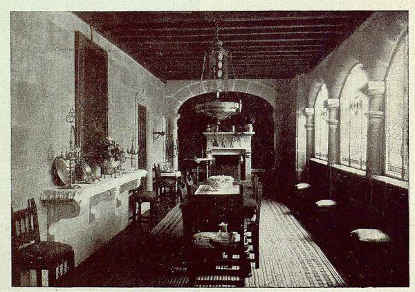 336_TRA-1925-222-Palacio de Guisando, comedor-Foto Rodríguez