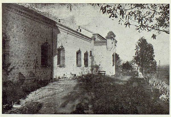 349_TRA-1924-203-Palacio de Higares de los Duques de la Vega, jardín lateral-Foto Rodríguez
