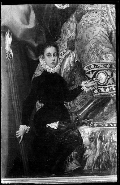36 - 168 - Toledo - Entierro del Conde de Orgaz. Jorge Manuel, hijo del Greco