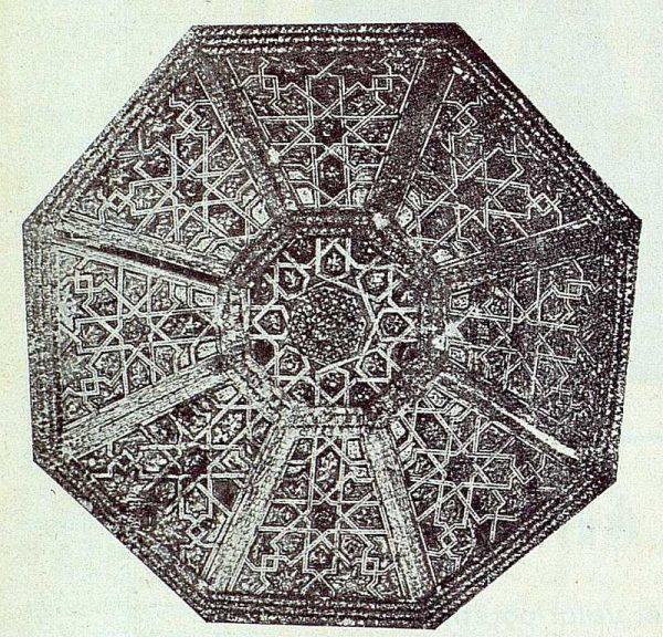 360_TRA-1922-187-Palacio de los Duques de Maqueda, artesonado de uno de los salones