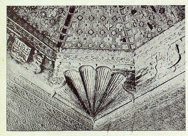 364_TRA-1922-187-Palacio de los Duques de Maqueda, ángulo de un artesonado