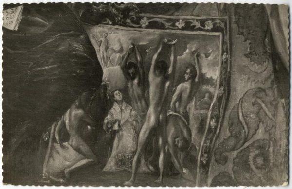 38 - 177 - Toledo - Entierro del Conde de Orgaz. Dalmática de San Esteban, representando su martirio (El Greco)