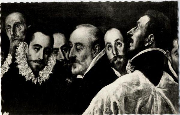 43 - 170 - Toledo - Detalle del lienzo Entierro del Conde de Orgaz. (El Greco)