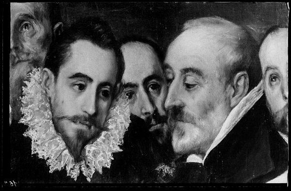 44 - 164 - Toledo - Entierro del Conde de Orgaz. Don Antonio Covarrubias y otros caballeros (El Greco)