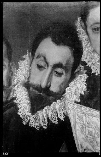 47 - 165 - Toledo - Entierro del Conde de Orgaz. Caballeros asistentes al entierro ( El Greco)