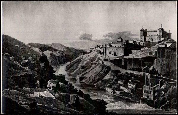 510 - Toledo - Vista general y el Alcázar antes del asedio