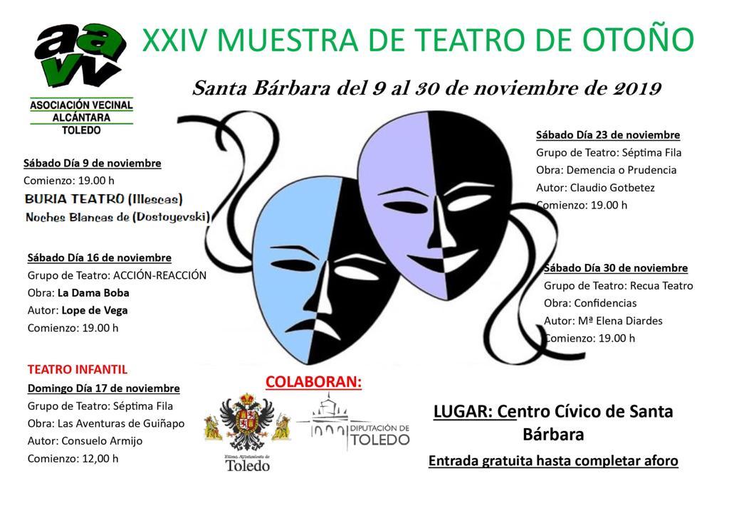 http://www.toledo.es/wp-content/uploads/2019/10/aavv-alcantara-muestra-teatro.jpg. XXIV Muestra Teatro de Otoño: Noches blancas, de Fiódor Dostoyevski