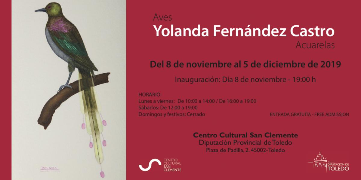 http://www.toledo.es/wp-content/uploads/2019/10/captura-de-pantalla-2019-10-29-a-las-13.43.07-1200x599.png. Exposición: Acuarelas de aves, de Yolanda Fernández Castro