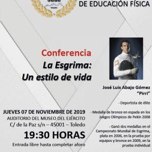 Conferencia: La esgrima, un estilo de vida