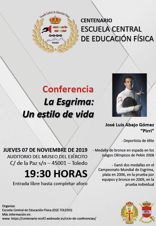https://www.toledo.es/wp-content/uploads/2019/10/conferencia-07nov19.jpg. Conferencia: La esgrima, un estilo de vida
