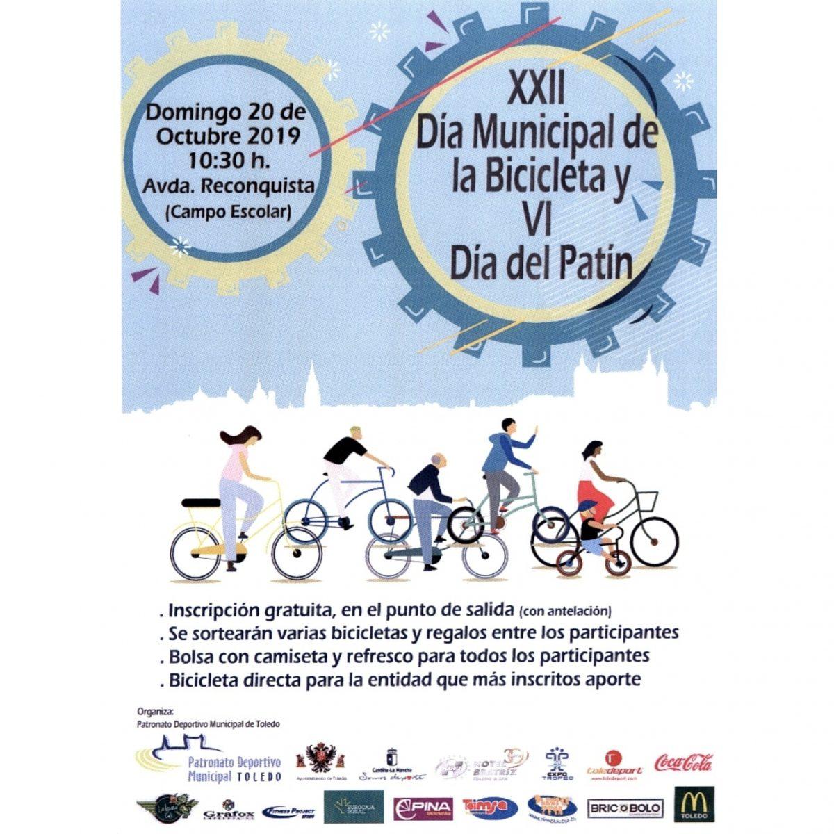 http://www.toledo.es/wp-content/uploads/2019/10/dia-de-la-bicicleta-20-octubre-1200x1200.jpg. XXII Día Municipal de la Bicicleta y VI Día Municipal del Patín