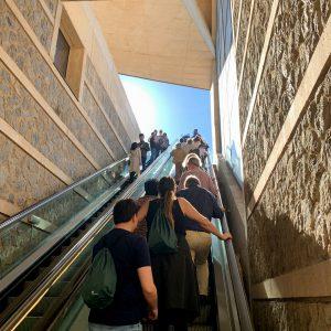 as escaleras mecánicas del Miradero vuelven a estar operativas tras las reparaciones realizadas en dos tramos de bajada