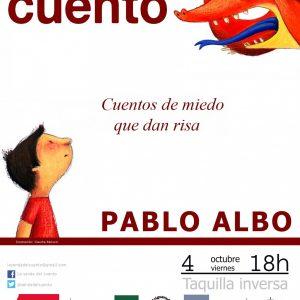 """La Senda del Cuento. Pablo Albo """"Cuentos de miedo que dan risa"""""""