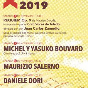 XVI Festival de órgano Toledo 2019: Michel y Yasuko Bouvard