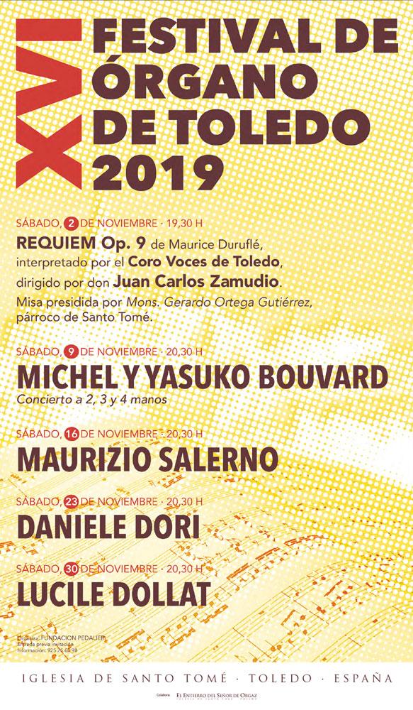 https://www.toledo.es/wp-content/uploads/2019/10/festival-2019_web.jpg. XVI Festival de órgano Toledo 2019: Michel y Yasuko Bouvard