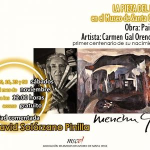 Pieza del mes: Exposición comentada del cuadro «Paisaje»