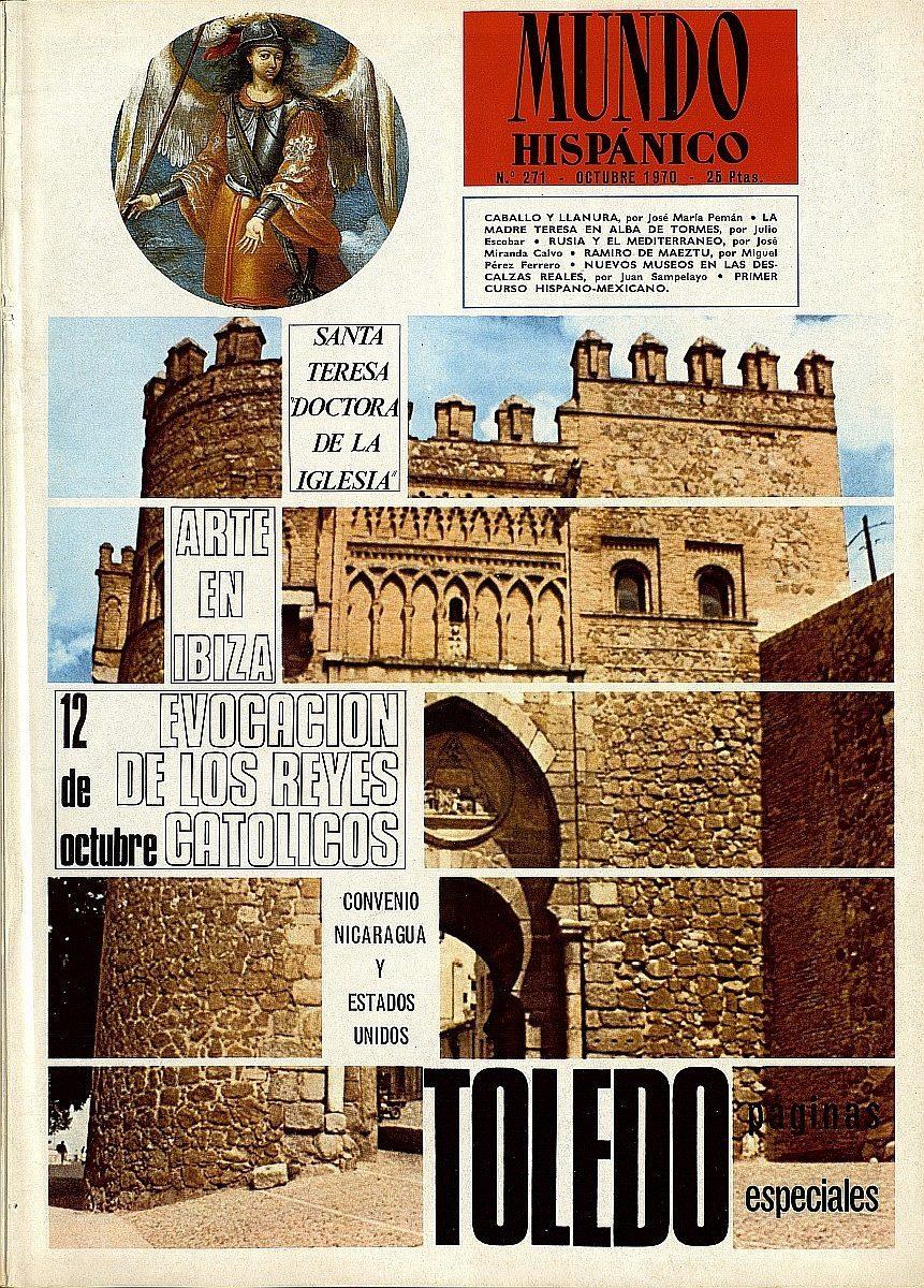 """http://www.toledo.es/wp-content/uploads/2019/10/mundo-hispanico-1970-10-_-271-861x1200-1-861x1200.jpg. """"Toledo en la revista Mundo Hispánico"""",  nueva exposición del Archivo Municipal"""